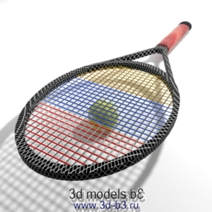 Теннисная ракетка с мячом