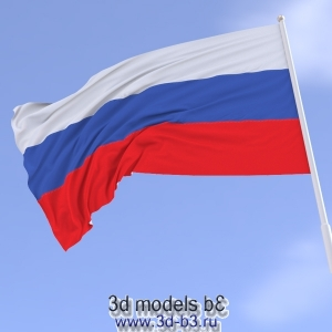 Модель флага, зацикленная анимация